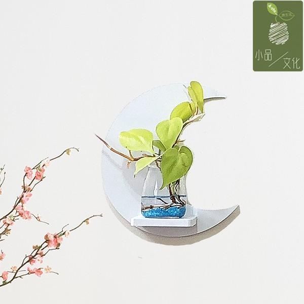 【現貨】【小品文化】桃心蔓 創意壁掛飾品 觀葉植物 室內植物 水耕水培 玻璃瓶掛飾 花盆 居家辦公擺飾 創意飾品