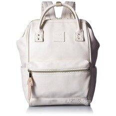 กระเป๋าเป้สะพายหลัง Anello Backpack Unisex Ivory White (Mini Size) - Japan Imported 100%