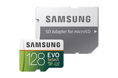 Samsung Samsung 128GB 100MB/s (U3) MicroSD EVO Select Memory Card with Adapter (MB-ME128GA/AM)