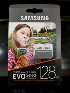BN Samsung EVO 128GB (U3) MicroSD Select Memory Card