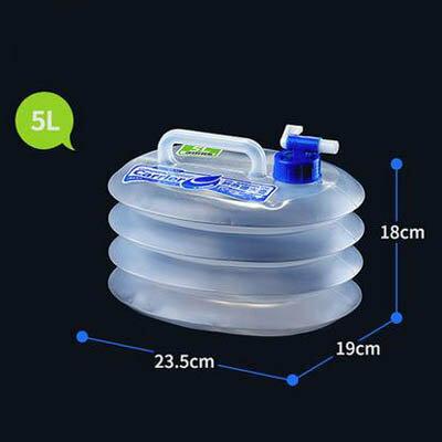 【可?式折疊水桶-5L-23.5*19*18cm-1套/組】食品級PE飲用水桶車用儲水桶-7670626