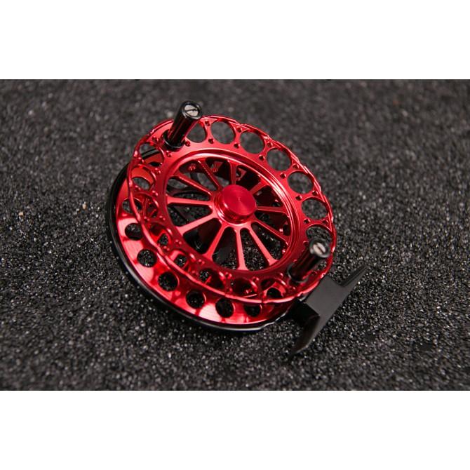 【獵漁人釣具】90黑紅精工全金屬前打輪 外銷款 釣魚 捲線器【E039】