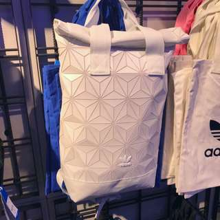 Limited Adidas Issey Miyake White Roll Up Backpack Bag