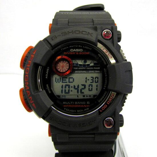 有G-SHOCK G打擊CASIO卡西歐手錶GWF-T1000BS-1JR蛙人FROGMAN全世界200條限定巴塞爾世界黑色人口紅寶石超激罕見的罕見的電波太陽能人機器蓋爾數碼極美品箱子的T東大阪商店285466 RY0851 NEXT51