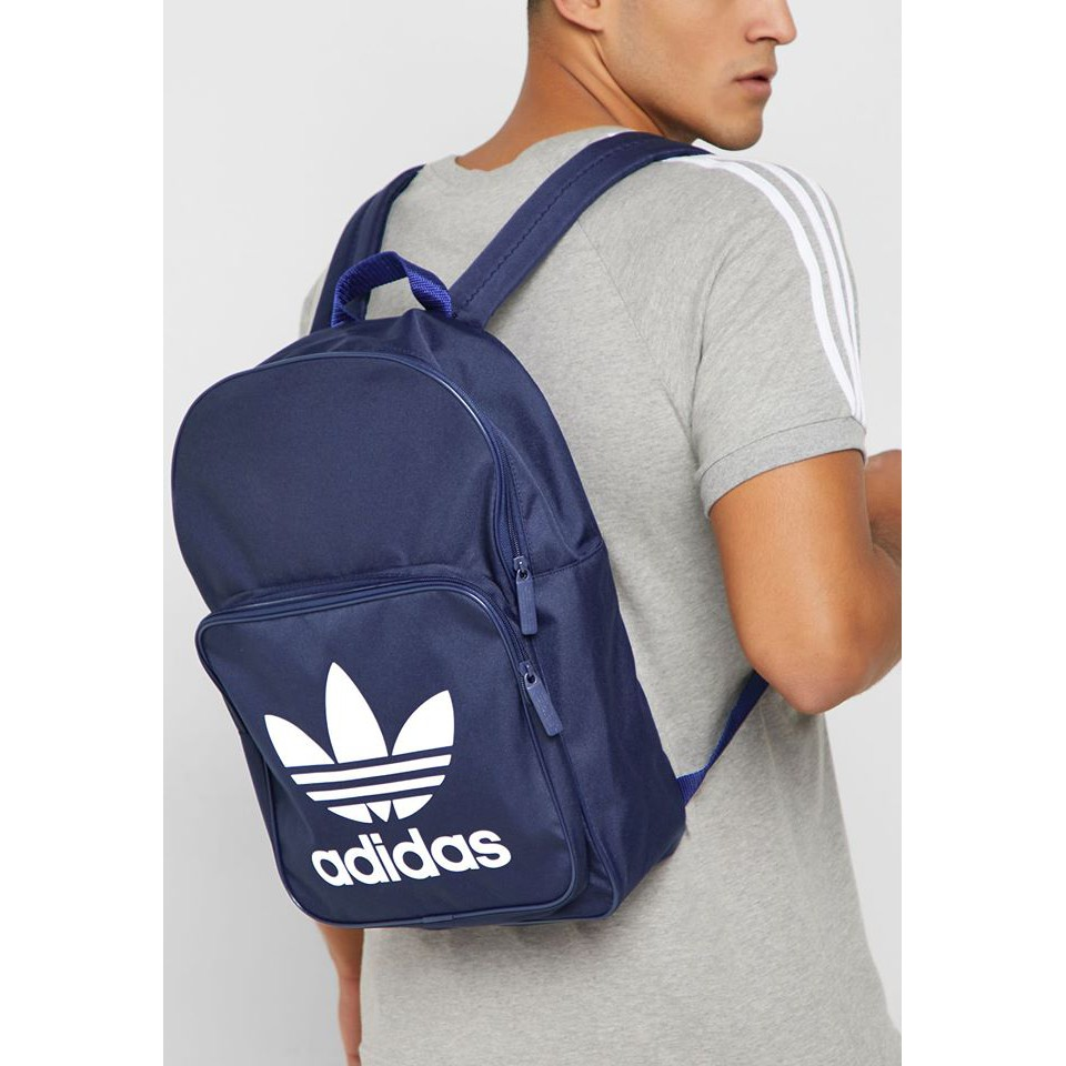 Adidas originals Classic Trefoil Backpack 藍色 雙肩 後背包 DW5189
