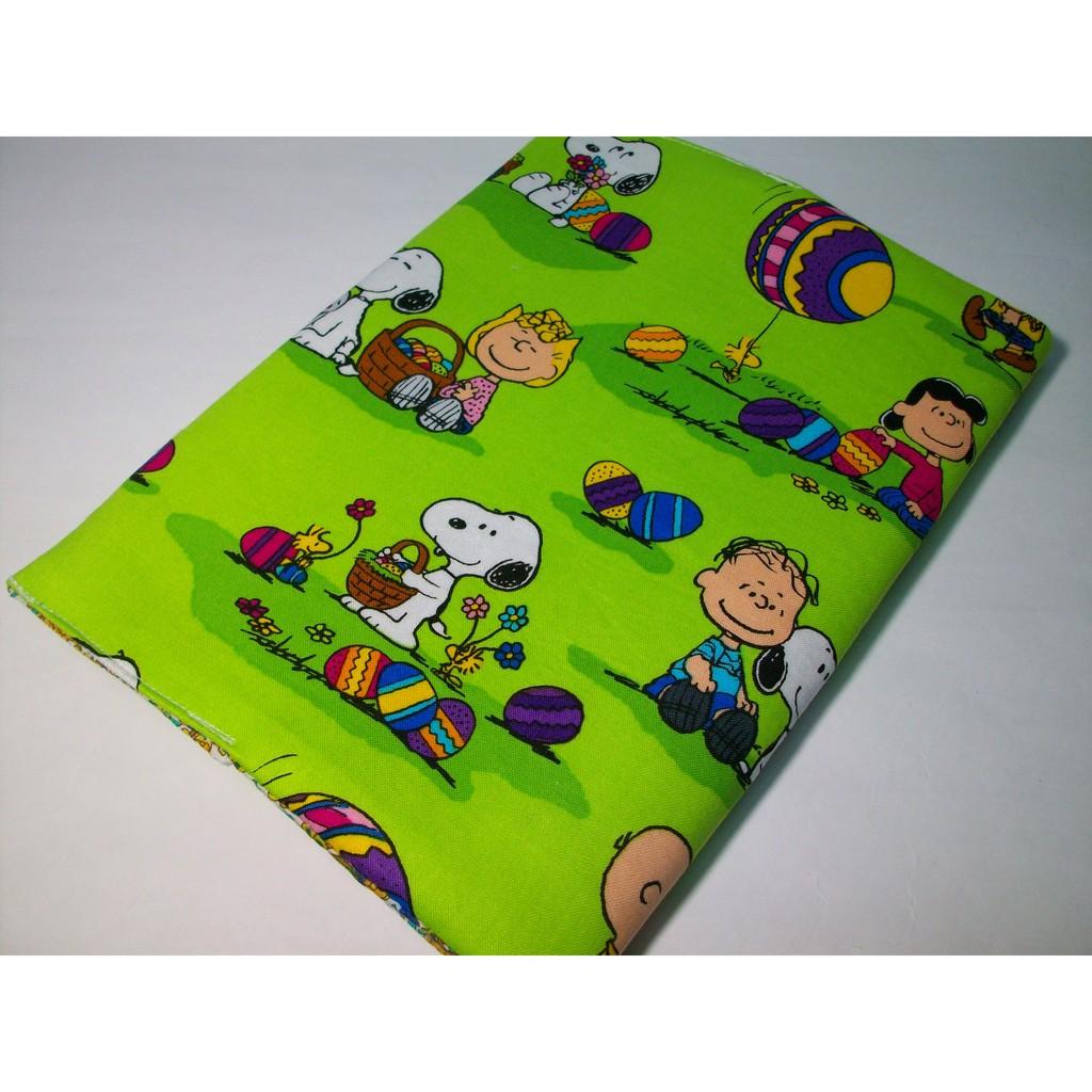 FEN手工小鋪-M系列-果綠色史努比布書套-精美-布書衣可適用A5大小書籍-25K筆記本-現貨供應