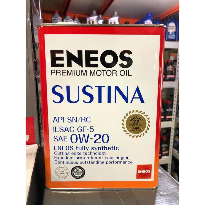 『油工廠』ENEOS JX SUSTINA 0w20 0w-20 新日本石油 全合成機油 Toyota Honda