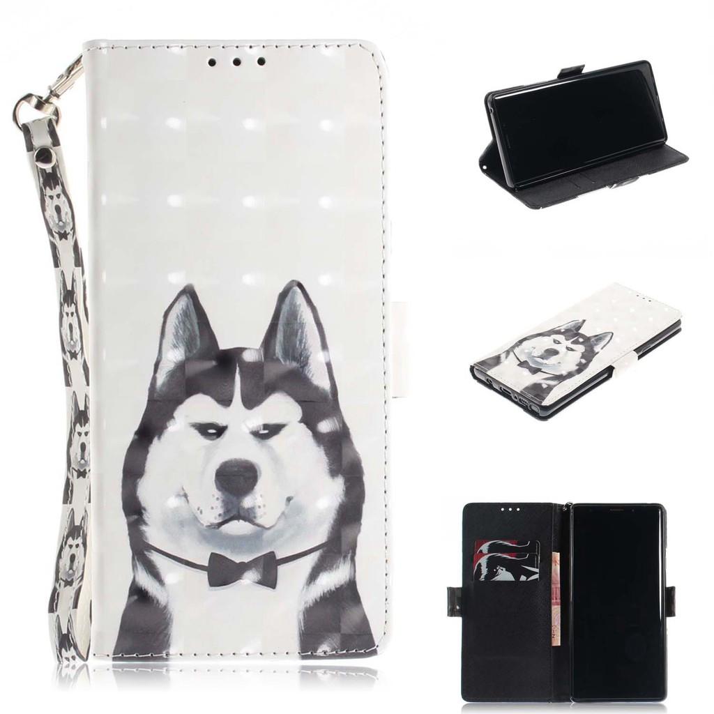 現貨 3D卡通彩繪皮套 三星 Note 9 J4 J6 J8 A6 A8 Plus翻蓋皮套 S10 S9 Plus手機殼