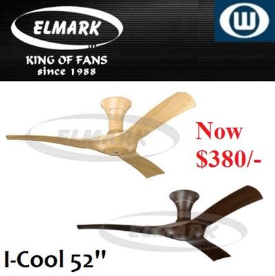 Elmark Ceiling Fan / I-cool 52 inch / With Remote Control / 1 year Local Warranty
