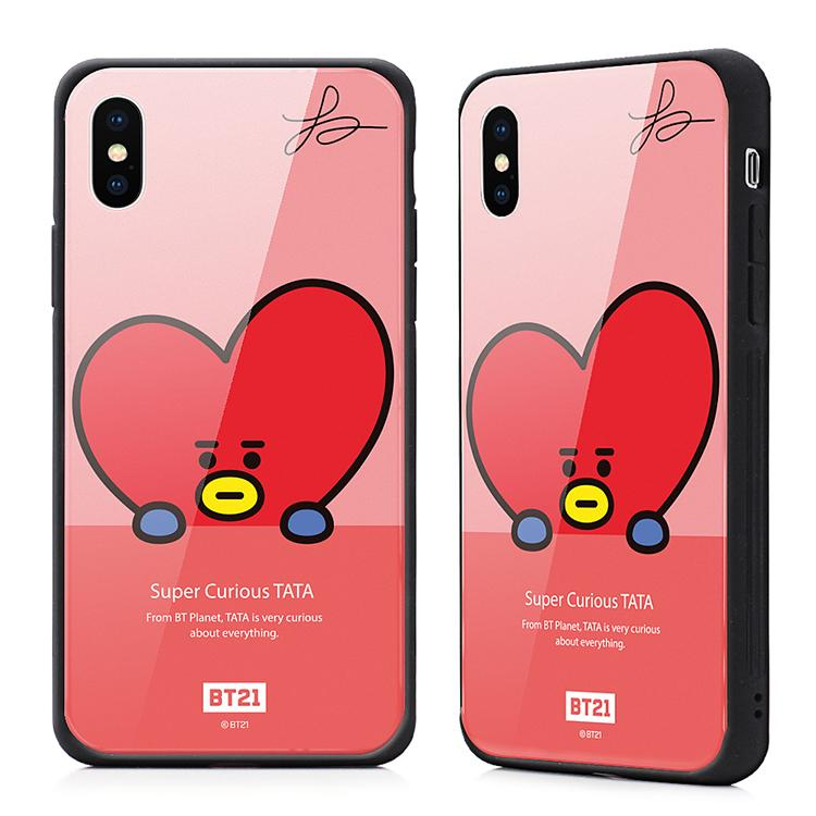 Product BT21 Bulletproof Boys Fashion iPhone X Tempered Glass Shatter-resistant Soft Silcone Fully–wrapped Phone Case Can Lanyard X