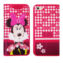 迪士尼正版授權 OPPO R9s Plus 6吋 普普風彩繪手機皮套(米妮) 隱形磁扣 多卡層