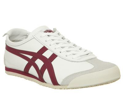 Onitsuka Tiger Mexico 66 Trainers White Burgundy