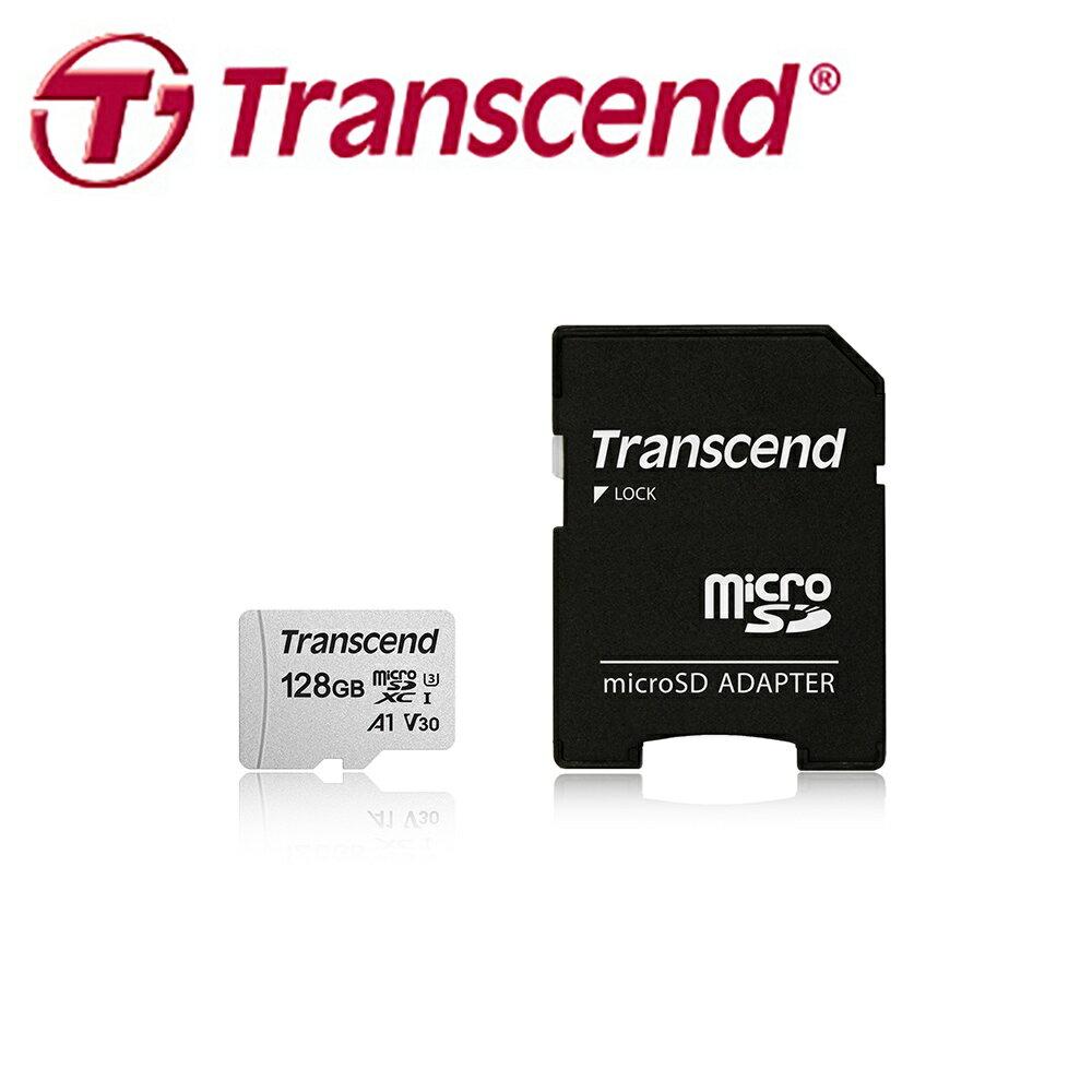 ◎相機專家◎ Transcend MicroSD 300S 128G 128GB 記憶卡 U3 A1 V30 附轉卡 公司貨
