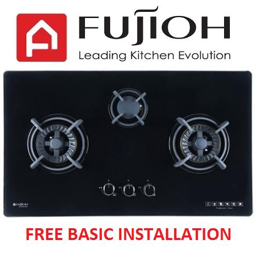 FUJIOH FH-GS5530 SVGL 3 BURNER GLASS HOB WITH SAFETY DEVICE
