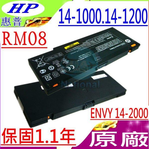 HP電池(原廠)-惠普 RM08,14,14-1000TX,14-1015TX,14-1050TX,14-1110NR