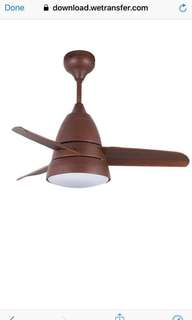 "Elmark Bee Fan 36"" Ceiling fan with LED light (KOA)"