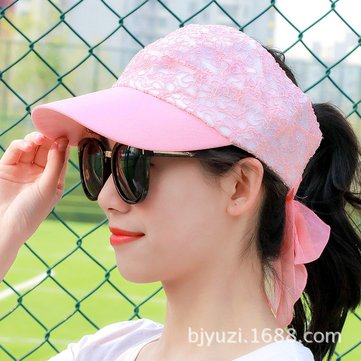 Women Thin Anti-UV Ponytail Empty Top Baseball Hat