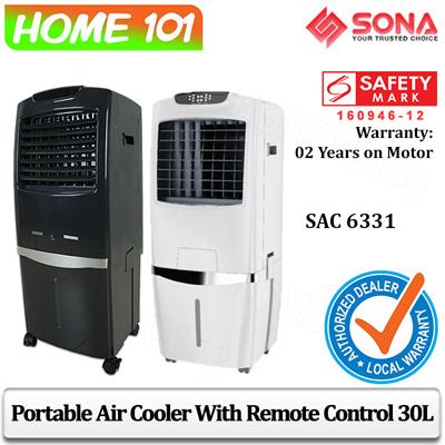 Sona Evaportative Air Cooler 30L Remote Ctrl SAC6331 White