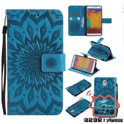 三星 note3 note4 note5手機殼翻蓋式保護真皮套掛繩防摔矽膠全包『創意家居』