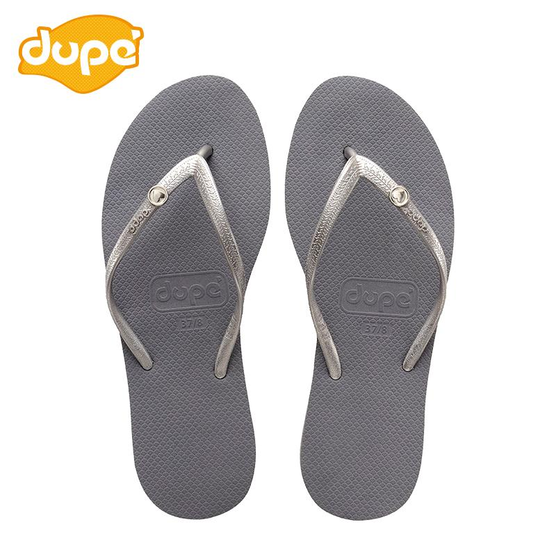 Dupe Brazil 2018 New Style Flip-flops Female Summer Anti-slip Leisure Flat Sandals Fashion