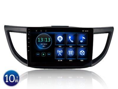 威宏專業汽車音響 JHY CRV4 專用安卓觸控機 10.1吋 導航 藍芽 網路電視