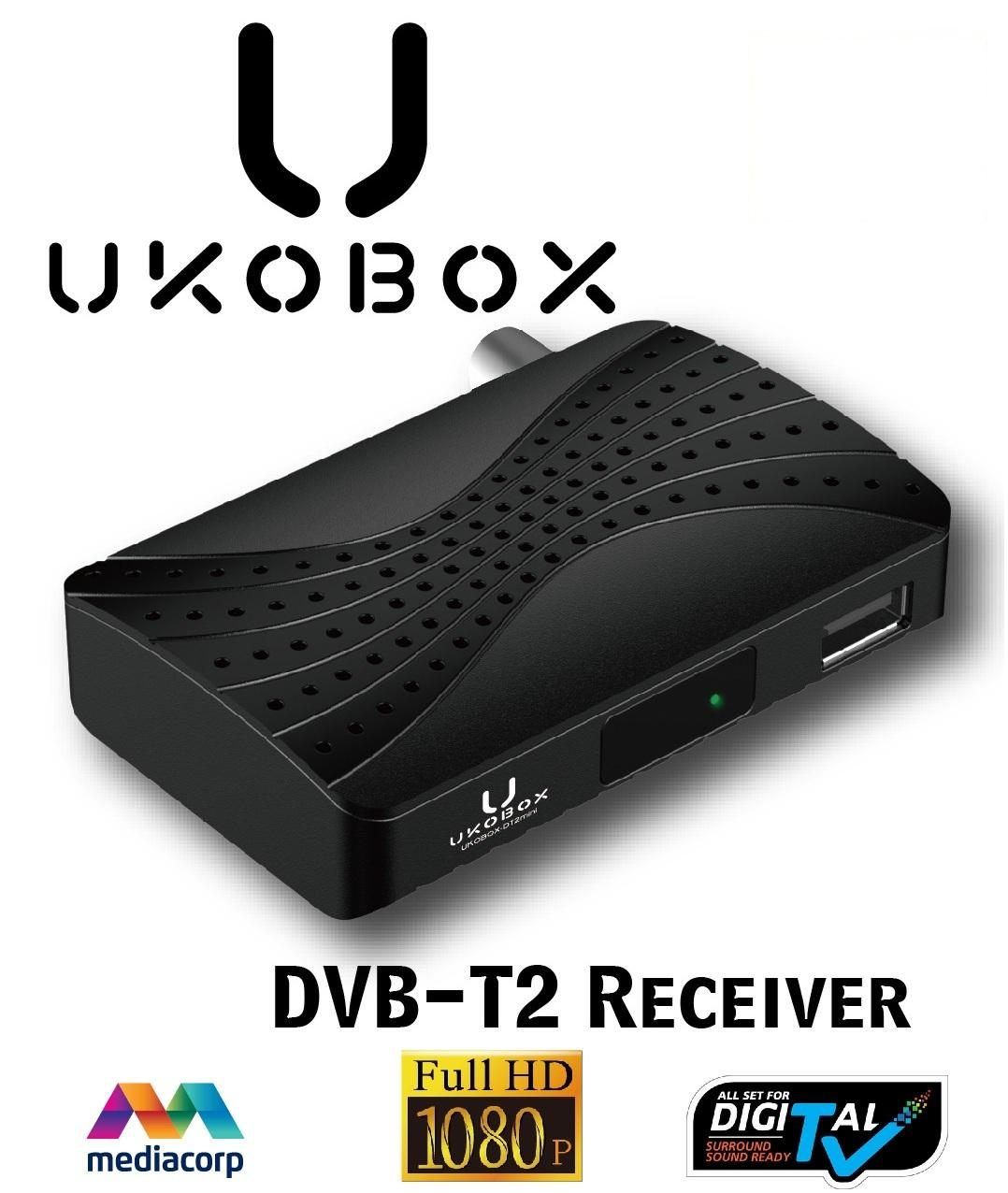 ★SG Warranty★ UKOBOX DVB-T2 Receiver +  Antenna + WIFI adapter Set!