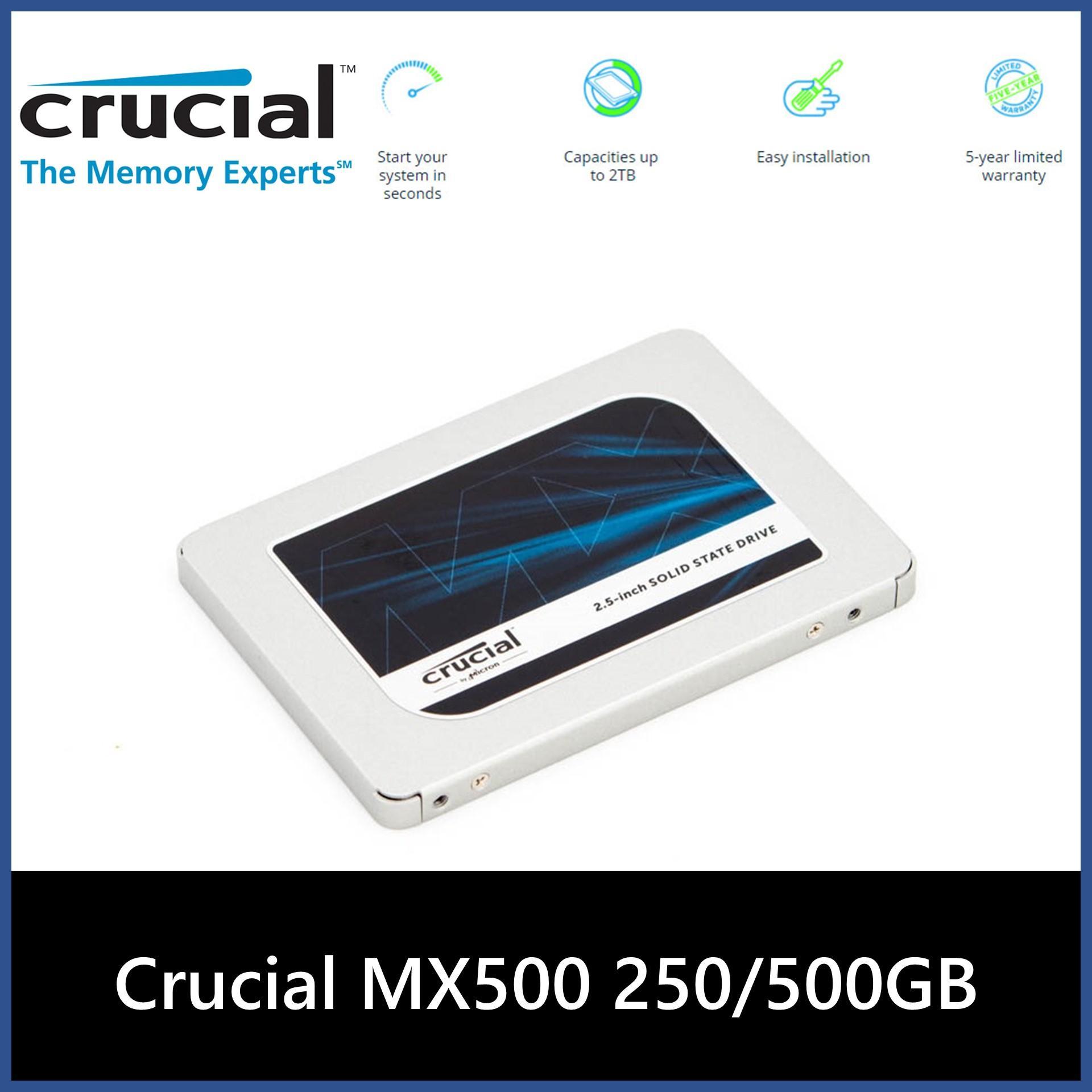 Crucial MX500 250GB/500GB/1TB SATA 2.5 Inch Internal Solid State Drive