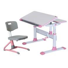 Children Ergonomics Study Table and Chair Set - Pink