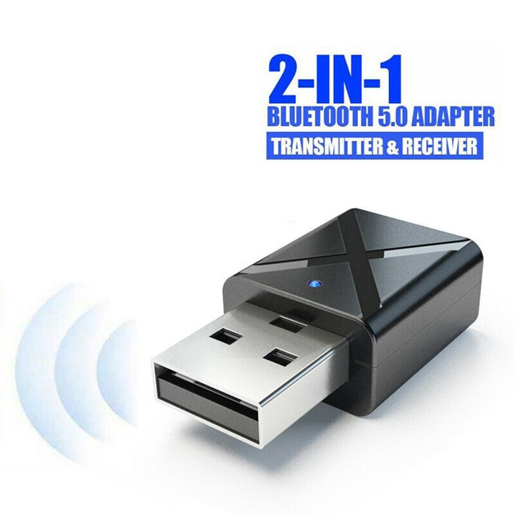 დ En❃Wireless USB Bluetooth Adapter 5.0 Music Audio Receiver Transmitter for PC