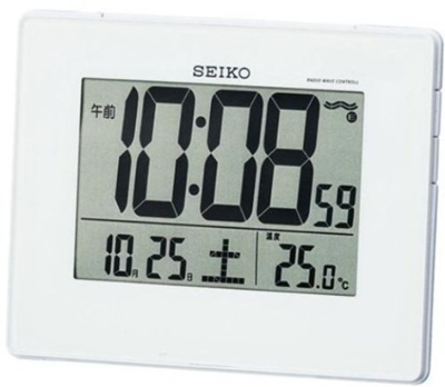 SEIKO CLOCK ( Seiko clock ) wall clock alarm clock combined digital radio clock SQ697W