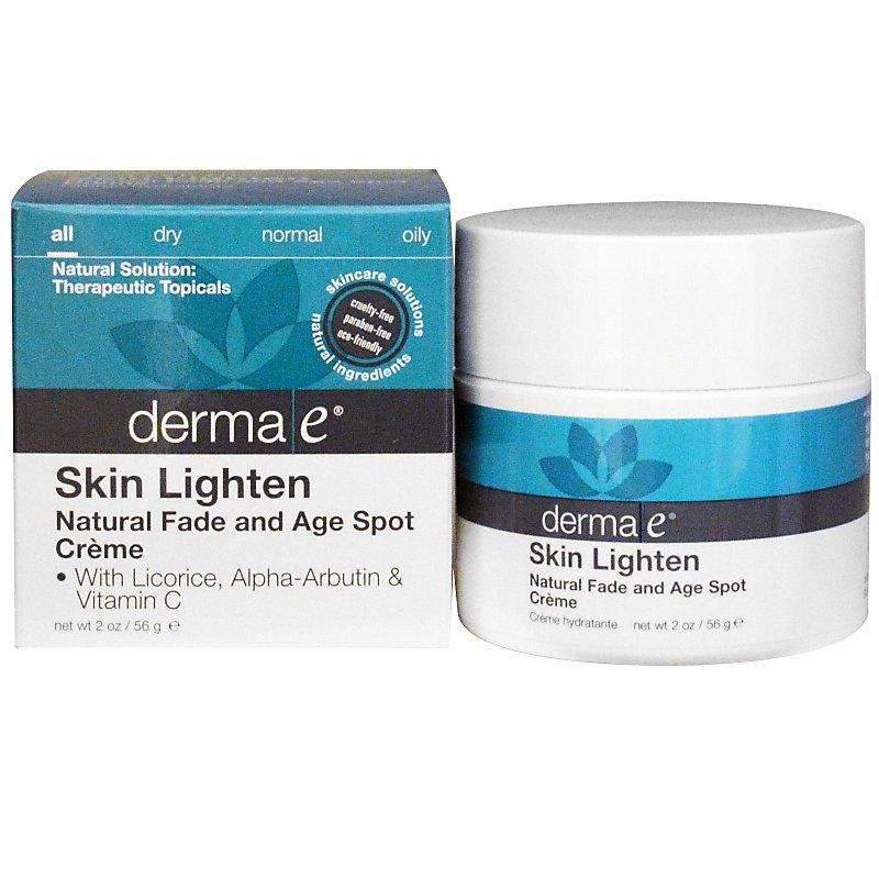 亮膚、減少黑色素、去斑霜:2oz (56g) Derma E Skin Lighten, Natural Fade and Age Spot Cream DME00475