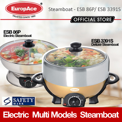 *Limited Sets Only* Europace ESB 3161S 5L Steamboat with dual pot - 15 months E-warranty*
