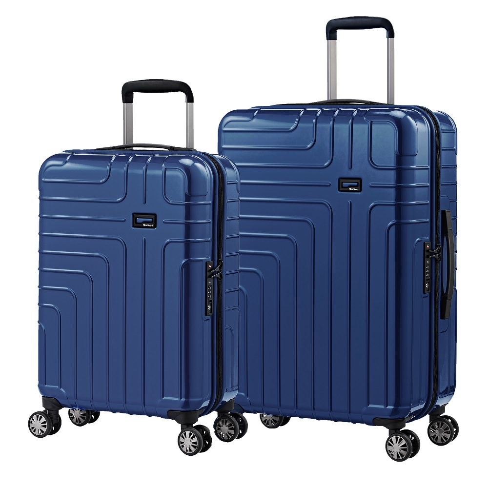 eminent【伊洛絲】極輕絕美鏡面PC行李箱 20+24吋<新品藍>KG93