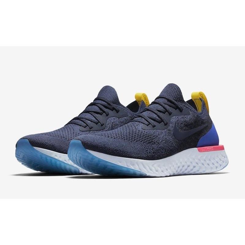 Nike Epic React Flyknit (AQ0067-400)男(AQ0070-400)女 深藍