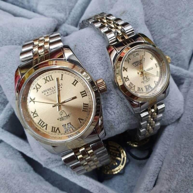 นาฬิกาคู่ ขายเป็นคู่ AMERICA EAGLE แท้ กันน้ำ 100%
