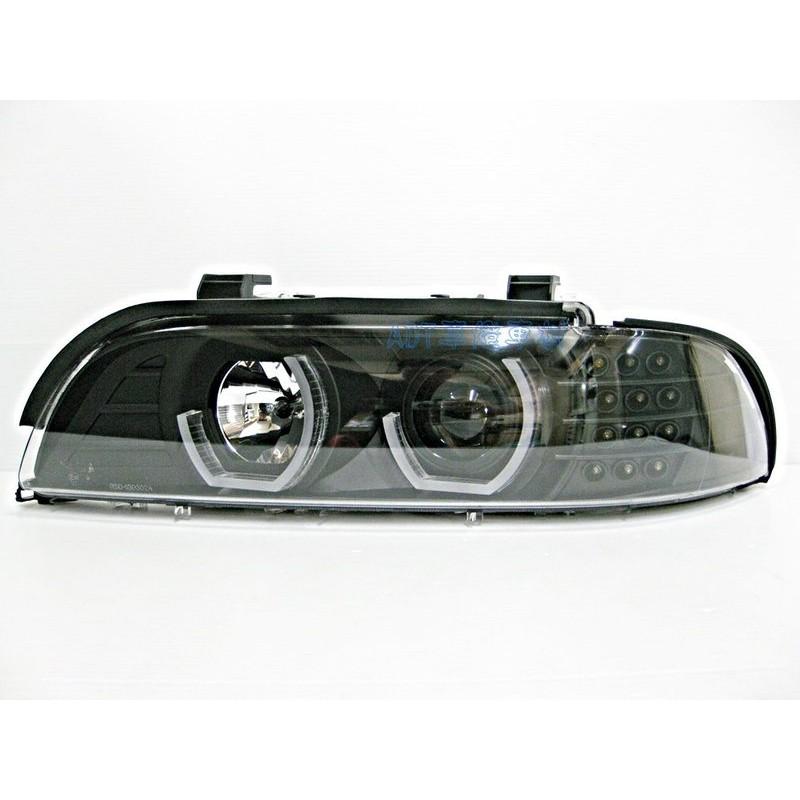 ~~ADT.車燈.車材~~BMW E39 類F10 LED導光 U型 光圈 LED方向燈大燈組 適用1995-2002