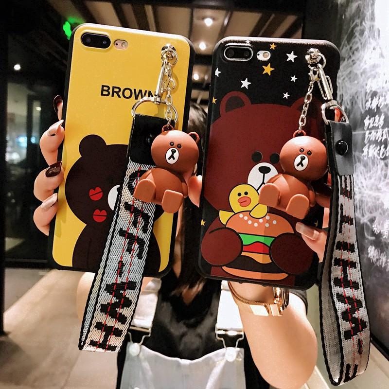sCartoon VIVO Y66 Y67 Y79 Y85 Y71 Y83 Y75 Bear Brown Phone Case