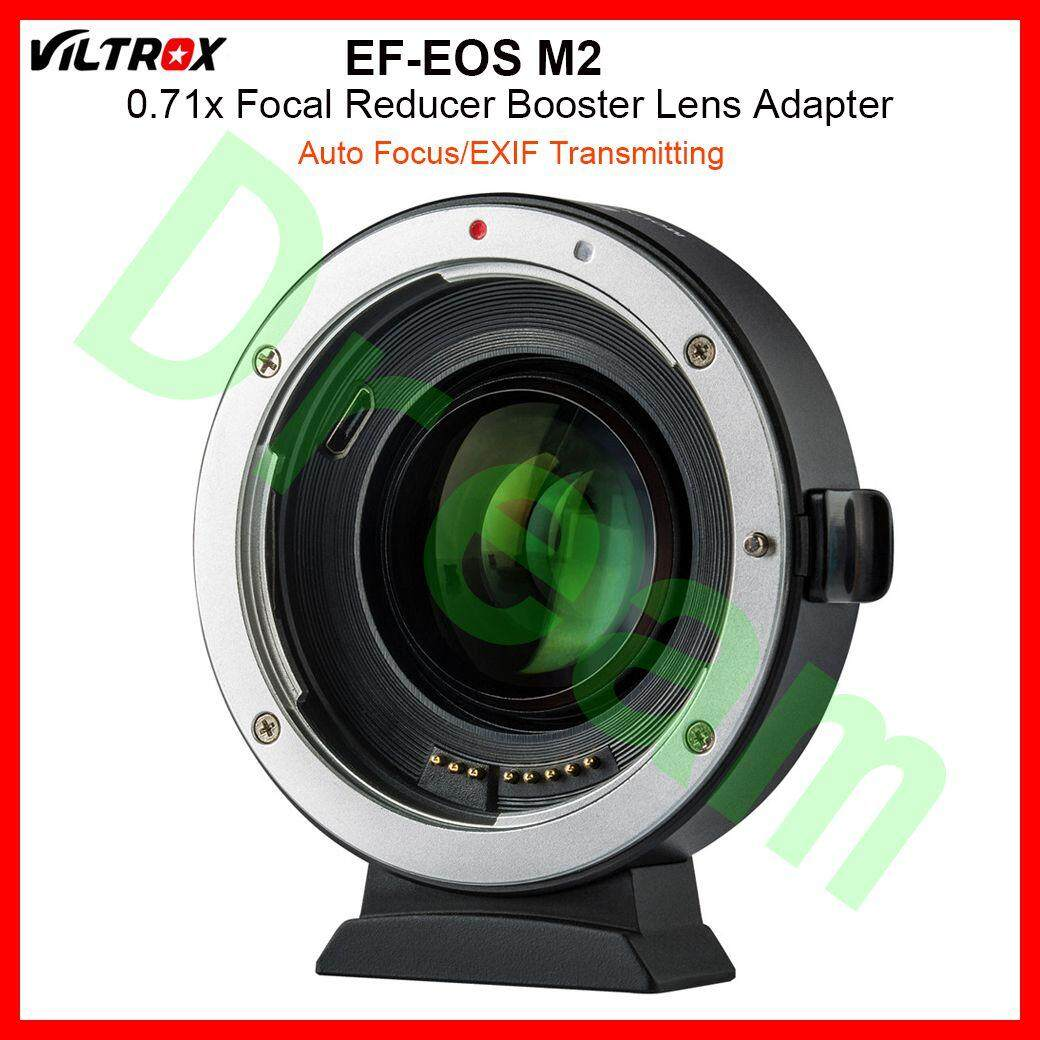VILTROX EF-EOS M2 ความยาวโฟกัส 0.71x Auto - Focus ลดอะแดปเตอร์สำหรับ Canon เลนส์ EF Mount EOS M Camera M6 M3 m5 M10 M100 M50