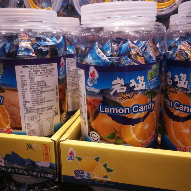有發票 好市多代購 Bigfoot 薄荷岩鹽檸檬糖 喜馬拉雅鹽糖 檸檬糖 運動糖 糖果 (900g)