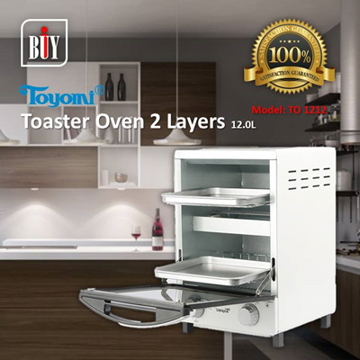 [IBuy] = TOYOMI Toaster Oven 2 Layers 12.0L [Model: TO 1212] 100% Satisfaction / 1 Year Warranty
