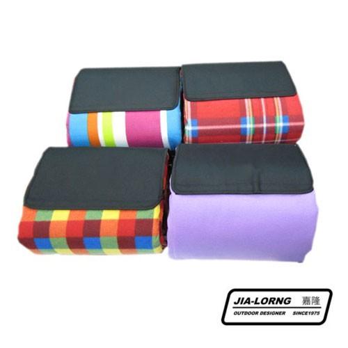 嘉隆 270*270cm 高級絨毛加厚 野餐墊 帳篷內墊 繽紛色彩 隨機出貨不挑色