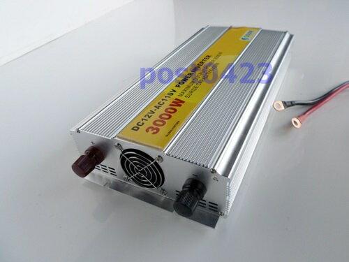 3000W仿正旋波逆變器12v轉110v家用電 車載電瓶車變電器電源轉換升壓器