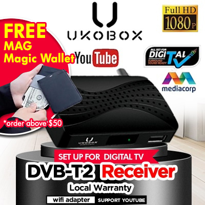 ★Local warranty★ UKOBOX DVB-T2 Receiver / Legal DVB-T2 Tunner / BEST dvb t2 box / Digital TV antenna