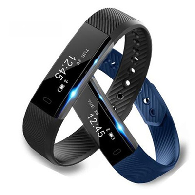 2017 BT4.0 HR Smart Bracelet Fitness Activity Tracker Pulse Smart Band ID115 Sleep Monitor Life Wate
