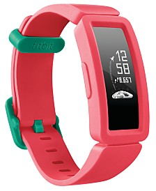 Fitbit Kid's Ace 2 Activity Tracker Watermelon Silicone Strap Smart Watch 20.5mm