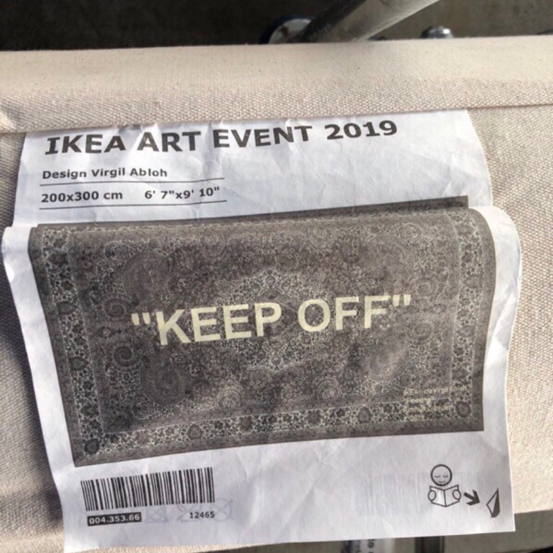 "IKEA x OFF-WHITE ""KEEP OFF"" 短毛波斯地毯 Virgil Abloh 現貨免等"