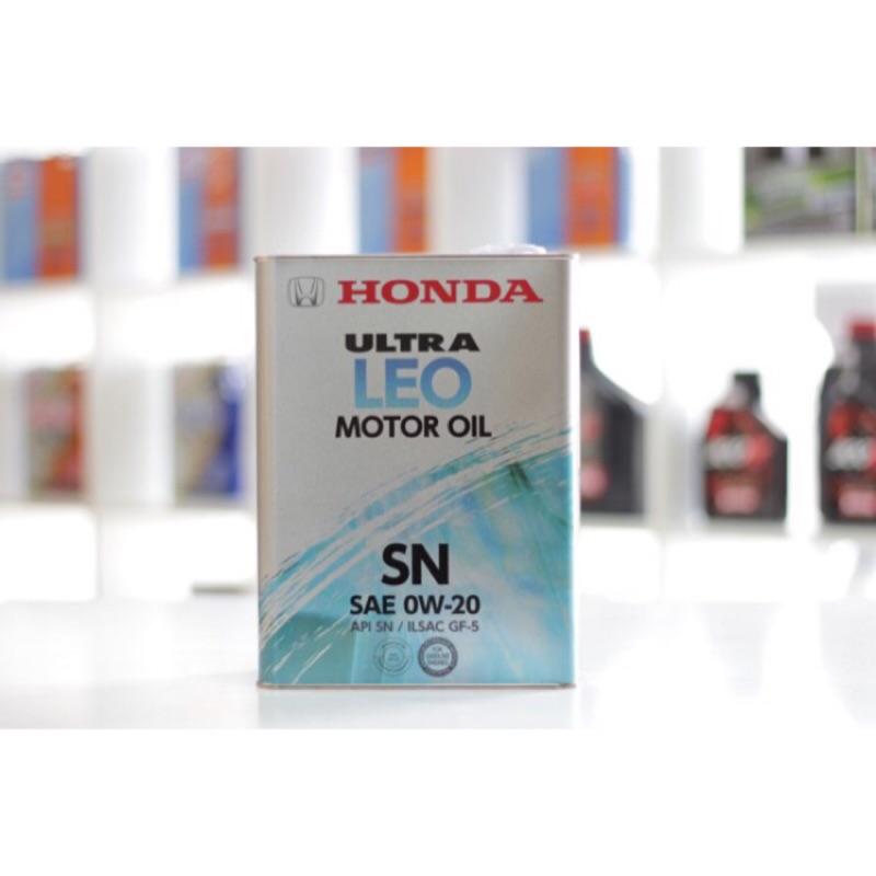 [ 樂油油 ]日本HONDA原廠 LEO 0W20 合成機油 4L