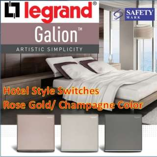[Legrand Galion] Latest Switch series/ Hotel Style/ Rose gold/Champagne gold