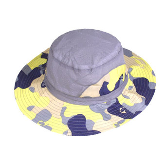 Cotton =Wide Brim Bucket Hat Folding Fishing UV Cap