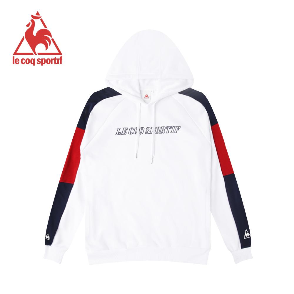 le coq sportif 法國公雞牌長袖連帽T恤 女-白